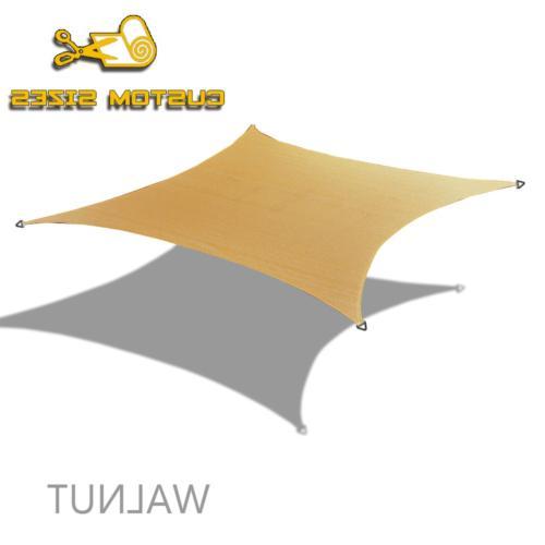 Alion Home HDPE Square Sun Shade Sail Canopy 13' 13',