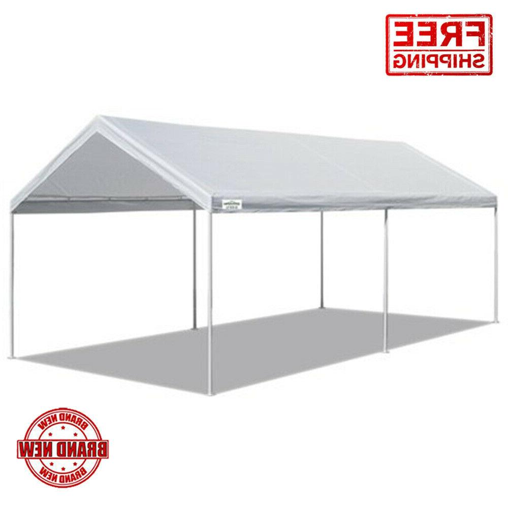"Heavy Duty Caravan Canopy Sports 10""X20"" Portable Carport Ga"