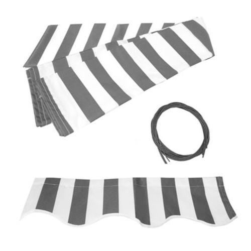 Patio 10'x8' Grey/White