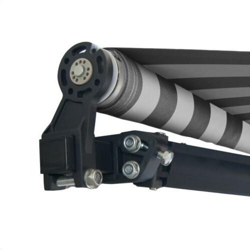 ALEKO Motorized Retractable Patio 10'x8' Grey/White