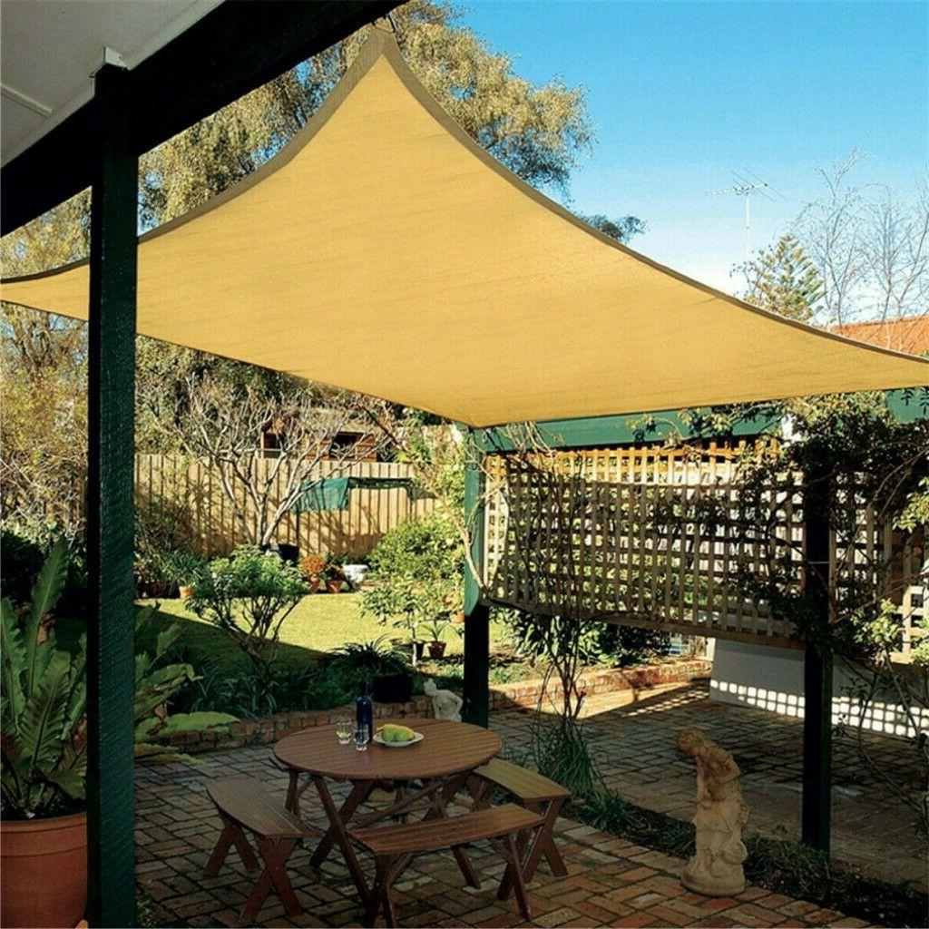Sun Shade Sail Canopy Rectangle Sand UV Block Sunshade Patio