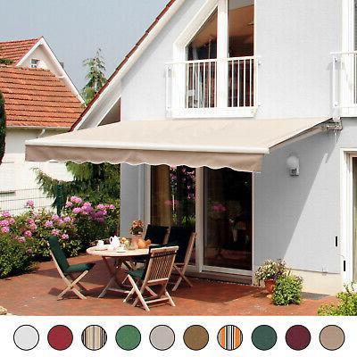 patio awning canopy retractable deck door outdoor