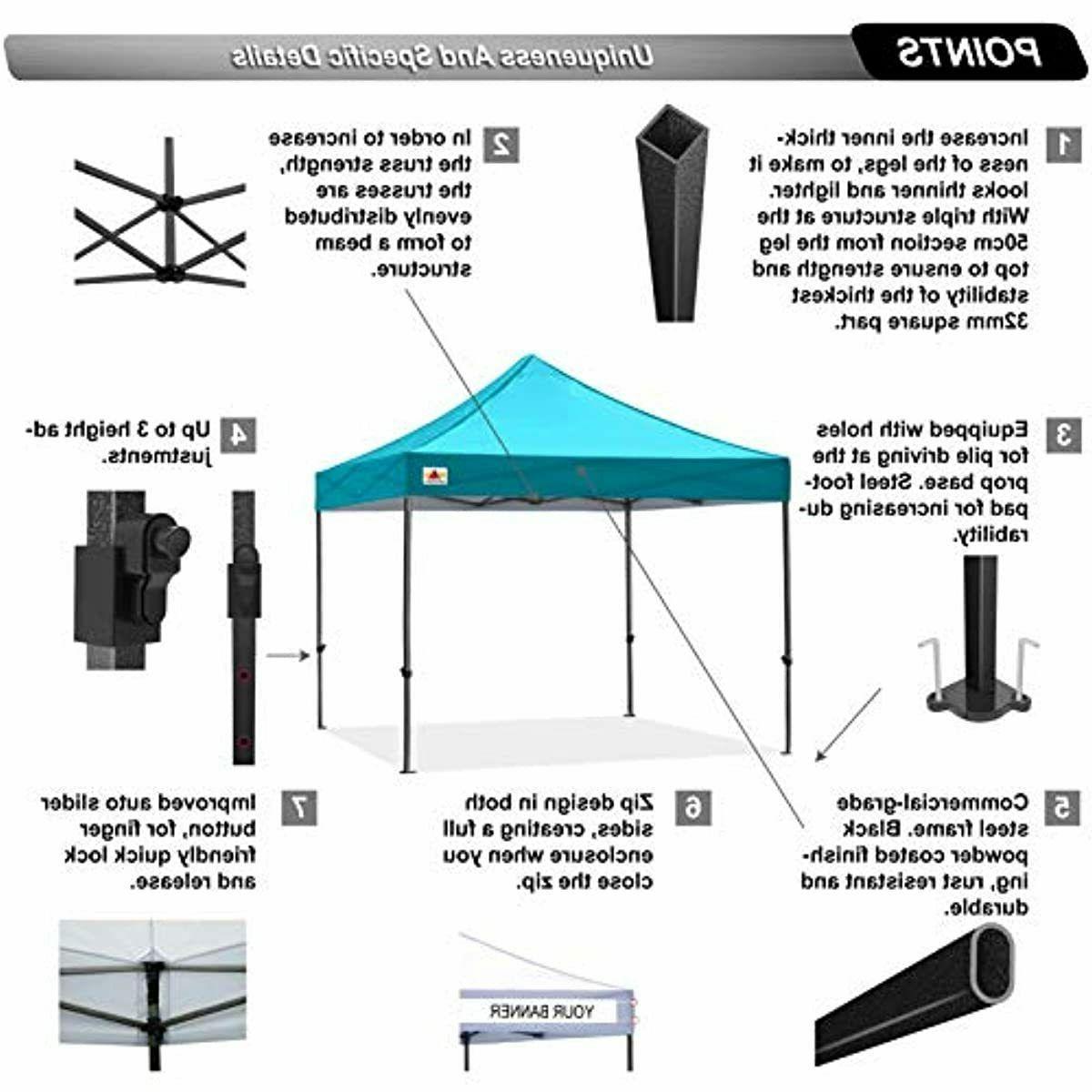 ABCCANOPY Pop Canopy Tent 10x10 Commercial-Series