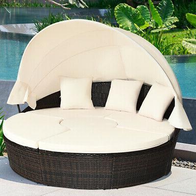 Patio Outdoor Sofa Furniture Set Canopy Table