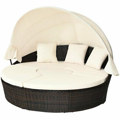 patio rattan daybed wicker outdoor sofa bed