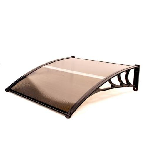 polycarbonate outdoor window or door canopy 40