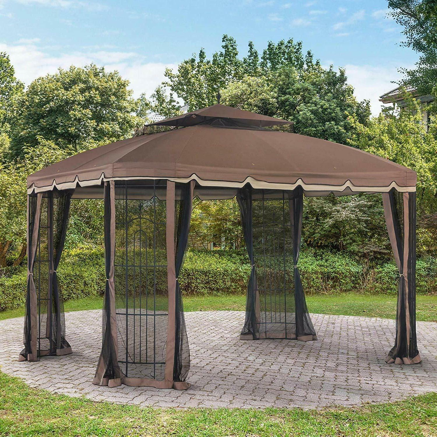 Replacement canopy set for 10x12ft bay window gazebo for out