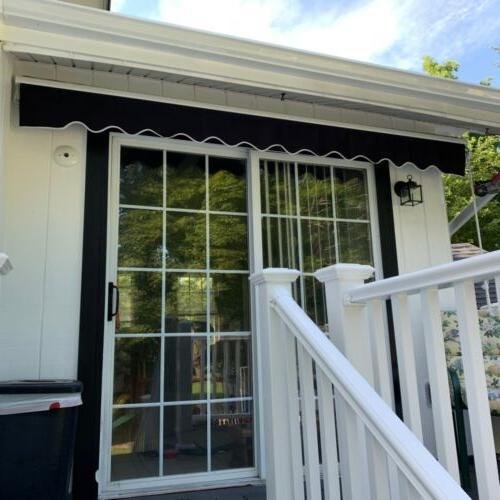ALEKO Motorized Home Patio Canopy Awning Black