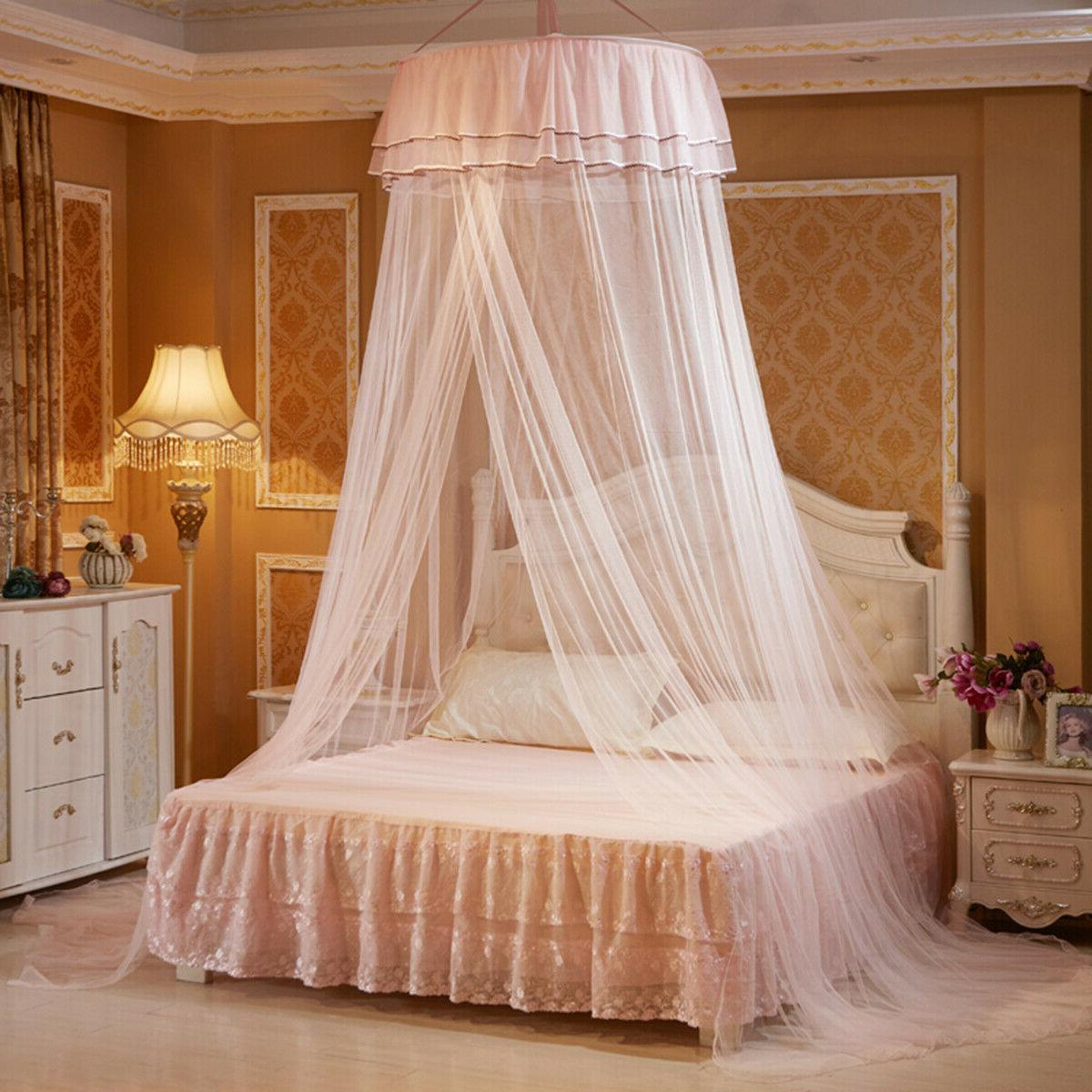 Solid Mosquito Net Queen Size Dome Foldable Bed Princess