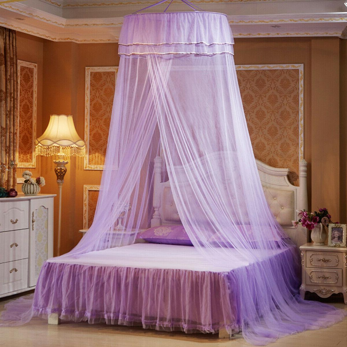 Solid Net Bed Queen Size Home Foldable Princess