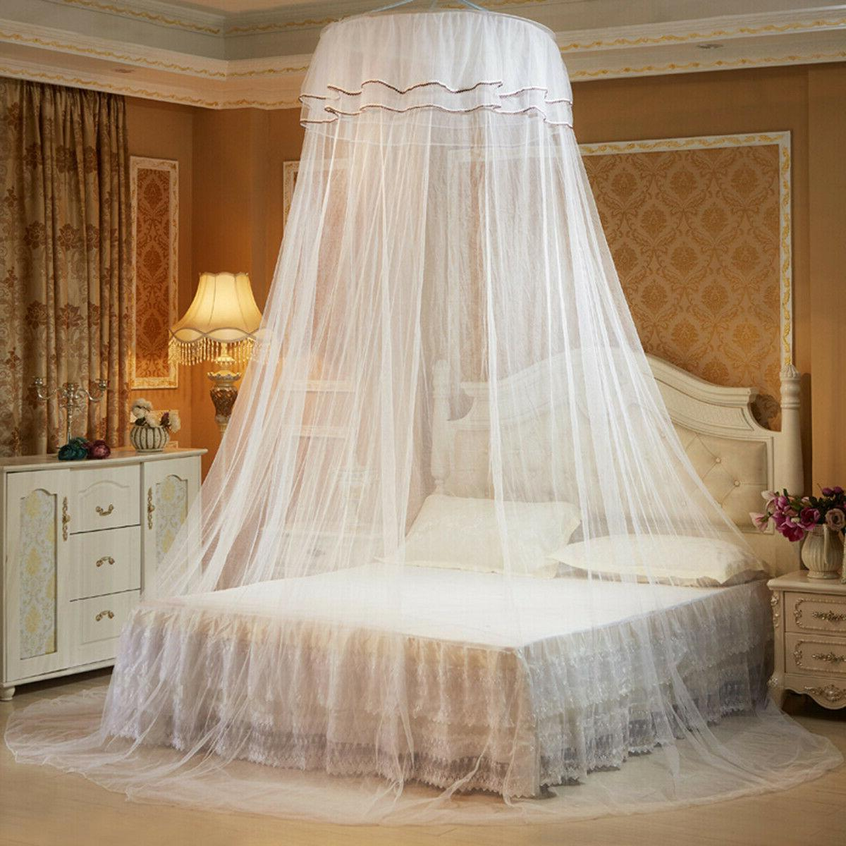 Solid Mosquito Net Queen Foldable Princess