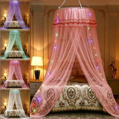 Girl Princess Bed Mesh Lace Hanging Netting Curtains  Canopy