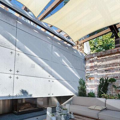 160 GSM Sun Shade Sail Garden Patio Pool Canopy Cover Top