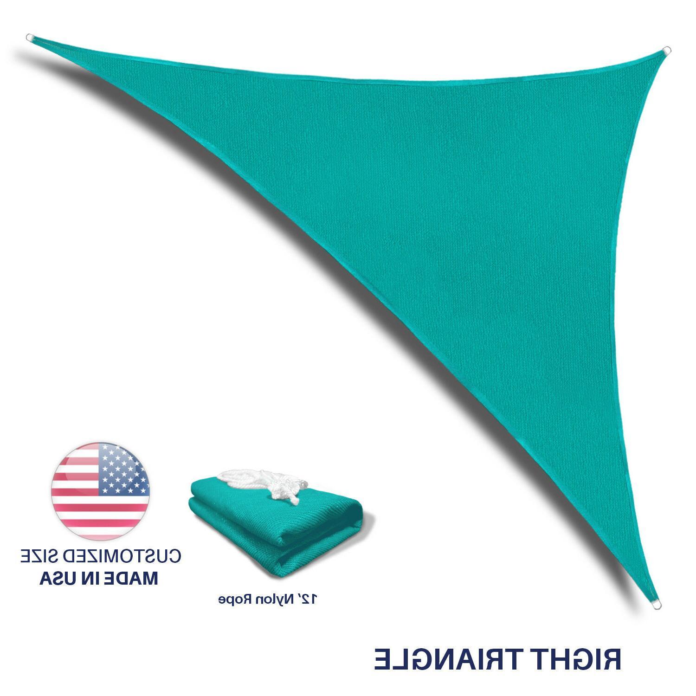 Standard Size Triangle Curve Sun Shade Sail Home Garden Patio Canopy