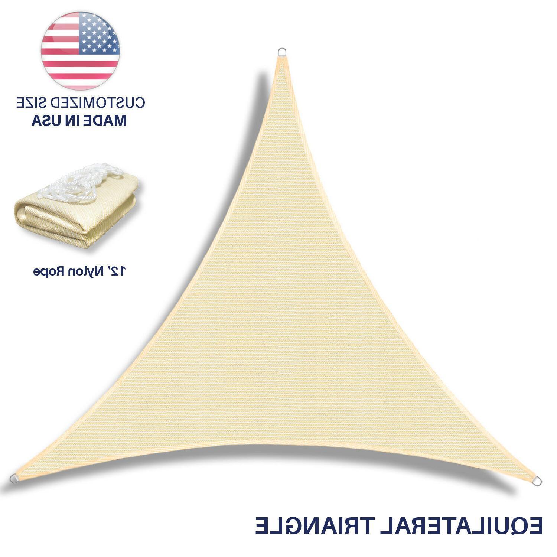 Standard Triangle Sun Shade Sail Garden Pool Cover Canopy