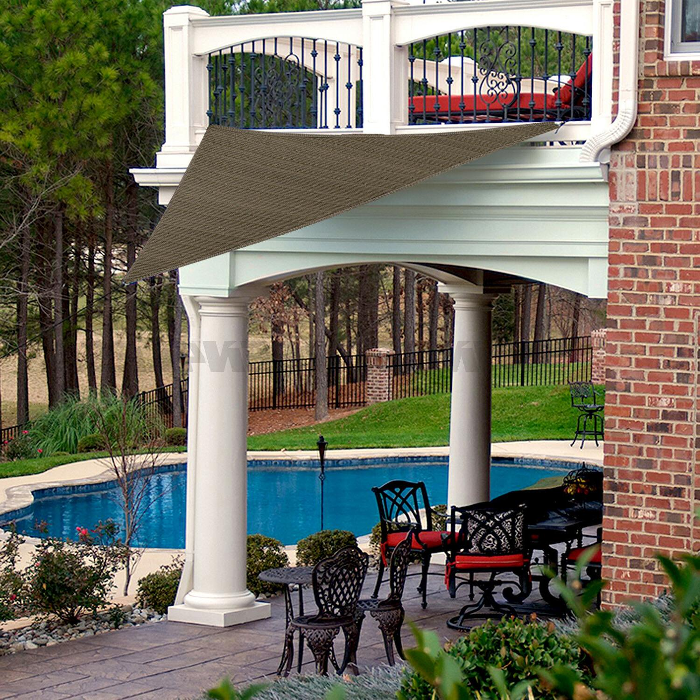 Standard Triangle Sun Sail Garden Pool Patio Canopy