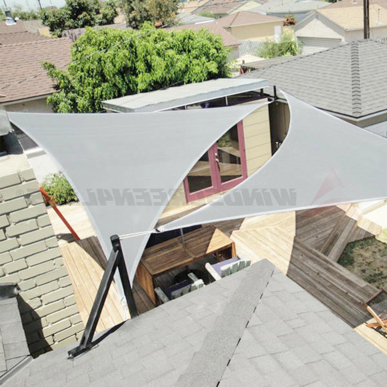standard size triangle curve sun shade sail