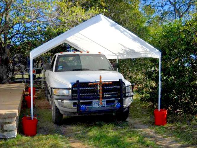 Steel Frame Canopy Sidewall Shelter Car Shade 10x20