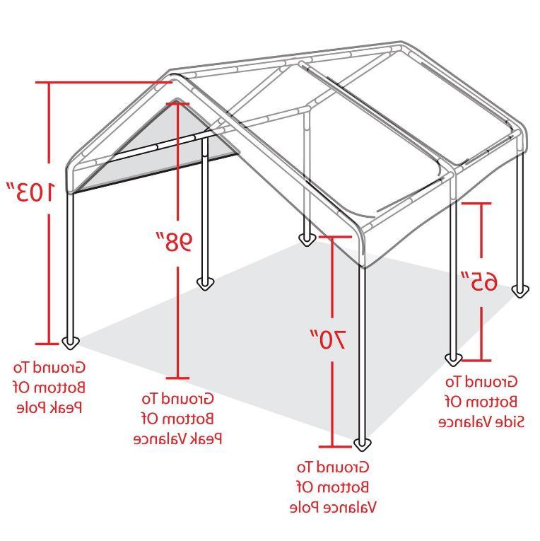 Steel Sidewall Shelter Car Garage