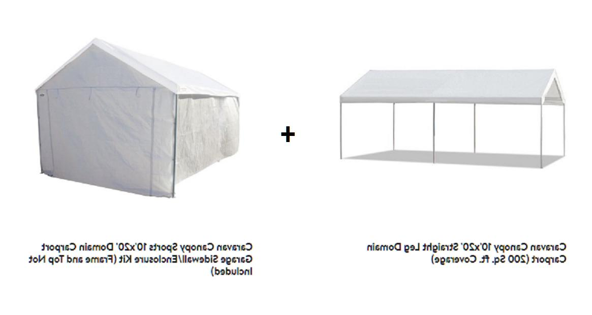 steel frame canopy with sidewall shelter portable