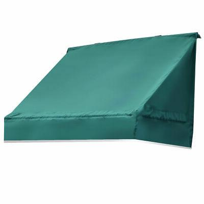 Window Awning Door Canopy Sun Rain Shade Shelter Burgundy,