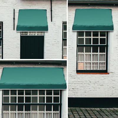 Window Awning Door Canopy Sun Rain Burgundy, Beige, Blue, Green