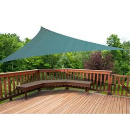 Large Sun Blue Shade Sail Outdoor Top Canopy Patio Triangle