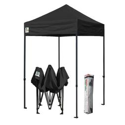 5x5 Black Outdoor Gazebo Commercial Instant Folding Patio Ca