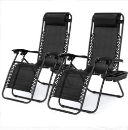New BestChoiceProducts 2X Adjustable Lounge Chair Recliners