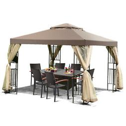 Outdoor 10'x10' Gazebo Canopy Shelter Awning Tent Patio