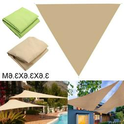 Outdoor Sun Shade Sail Canopy Triangle 12' Patio Pool Lawn A