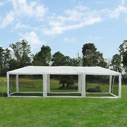 Outsunny 30' x 10' Patio Pop Up Canopy Party Tent with Mesh