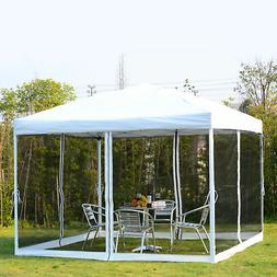 Outsunny 10' x 10' Pop-Up Canopy Shelter Party Tent w/ Mesh