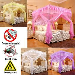 Princess Bed Canopy Mosquito Netting Bed Metal Frame Post Tw