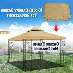 BenefitUSA Replacement 10'X10' Gazebo Canopy Top Cover Patio