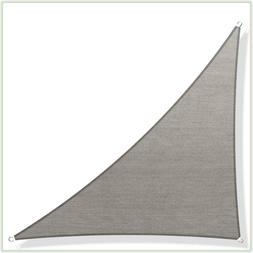Screen Canopy Grey Right Triangle Sun Shade Sail Outdoor Pat