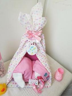 Sleeping Baby Blanket Canopy Bed Diaper Cake Baby Shower Cen