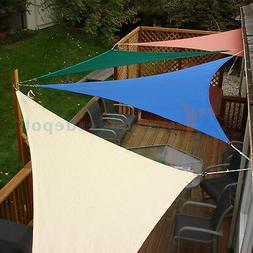 Sun Shade Sail Beige Right Triangle Permeable Canopy Lawn Pa