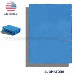Sun Shade Sail Blue Hemmed Fabric Cloth Canopy Awning Patio
