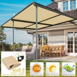 Sun Shade Sail Canopy Shelter Sand Outdoor Garden Greenhouse