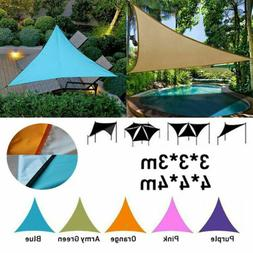 Sun Shade Sail Permeable Rectangle Square Outdoor Patio Deck