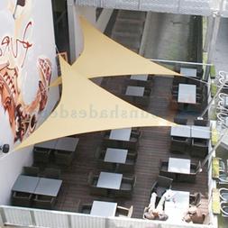 Sun Shade Sail Permeable Triangle Outdoor Patio Deck Pool Ca