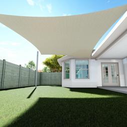 Sun Shade Sail Quadrilateral Permeable Canopy Lawn Patio Poo