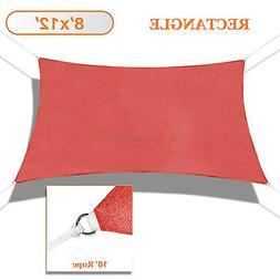 Sun Shade Sail Red Permeable Canopy Lawn Patio Pool Garden D
