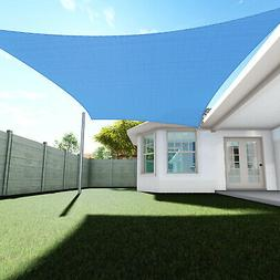Sun Shade Sail Blue Permeable Canopy Lawn Patio Pool Garden
