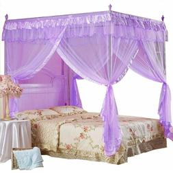 Twin Canopy Bed Princess Curtains Purple Netting Canopies Sh