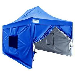 Upgraded Quictent 10x15 ft Ez Pop up Canopy Tent with Sidewa