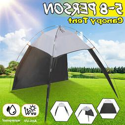 US 5-8 Person Outdoor Canopy Portable Camping UV Sun Shade S