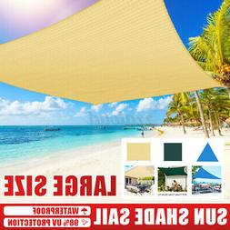 UV Block Triangle Sun Shade Sail Outdoor Patio Top Canopy Co