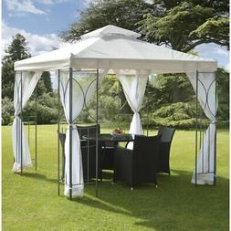 Very Sturdy and Attractive 8 Ft. W x 8 Ft. D Metal Patio Gaz